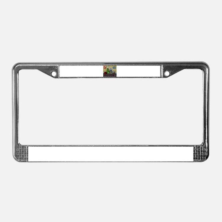 Christmas living License Plate Frame