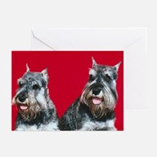 Adorable Schnauzers Greeting Cards (Pk of 20)
