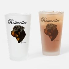 Cute Rottweilers Drinking Glass