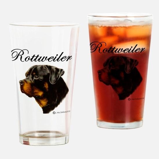 Cute Rottie Drinking Glass