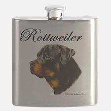 Funny Rottweiler Flask
