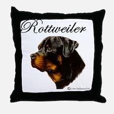 Unique Rottie puppies Throw Pillow