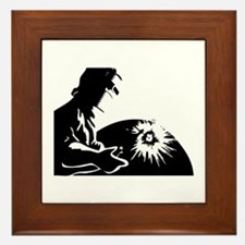 Welder silhouette Framed Tile