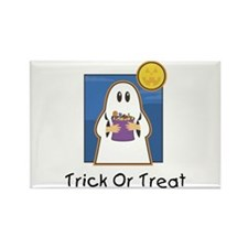 Trick or Treat Ghost Rectangle Magnet (10 pack)