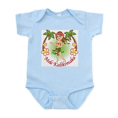 Christmas Hula Infant Bodysuit