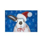 Santa Rabbit Rectangle Magnet