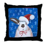 Santa Rabbit Throw Pillow