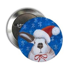 "Santa Rabbit 2.25"" Button"