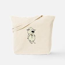 Sheep Zipping Up Tote Bag