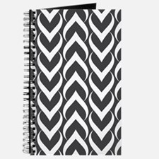 Black and White Pattern Journal