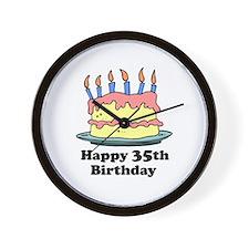 Happy 35th Birthday Wall Clock