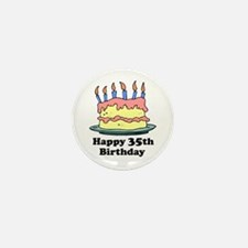 Happy 35th Birthday Mini Button (10 pack)