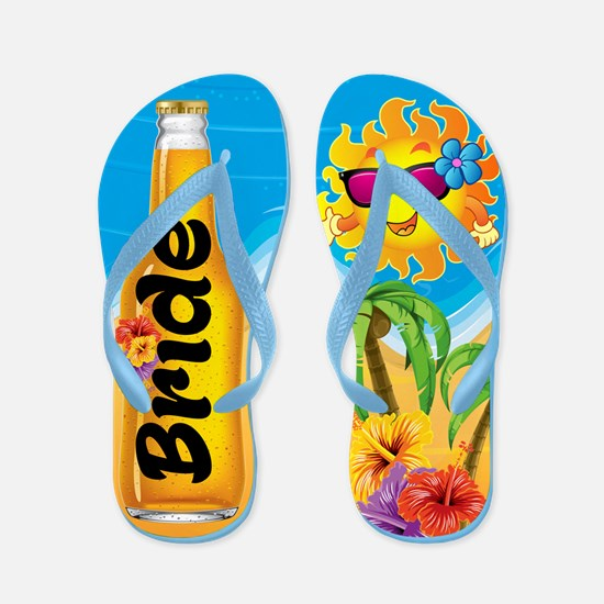 Bride Beer Beach Fun Flip Flops