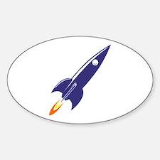 Blue rocket Decal