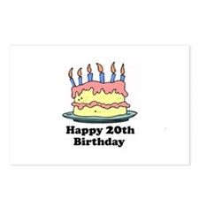 Happy 20th Birthday Postcards (Package of 8)