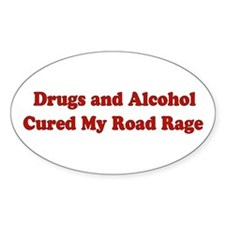 Drugs and Alcohol Oval Decal