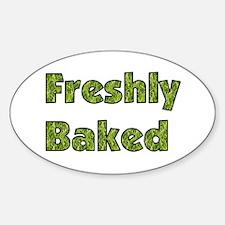 Freshly Baked Oval Decal