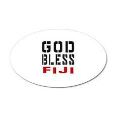 God Bless Fiji Wall Decal