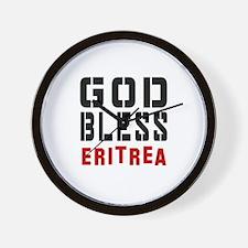 God Bless Eritrea Wall Clock