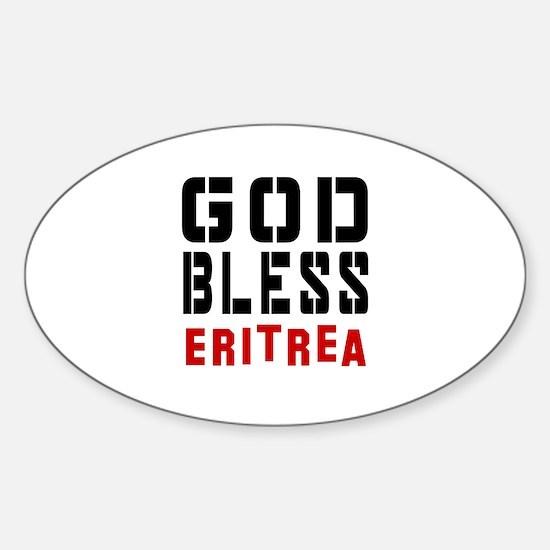 God Bless Eritrea Sticker (Oval)