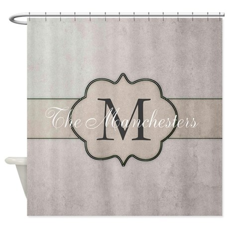 cute monogram shower curtain