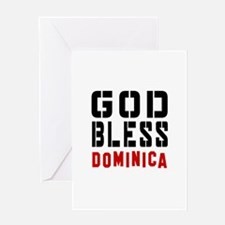 God Bless Dominica Greeting Card