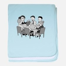 Round table business meeting baby blanket