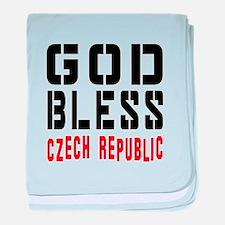 God Bless Czech Republic baby blanket