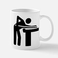 Billiards player logo Small Small Mug