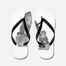 Groundhog Father Flip Flops