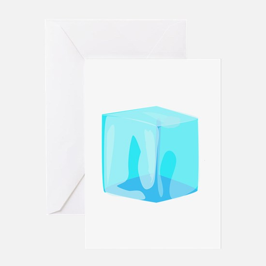 Ice cube Greeting Cards