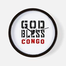 God Bless Congo Wall Clock