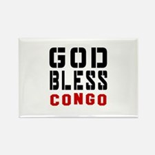 God Bless Congo Rectangle Magnet
