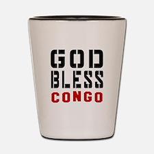 God Bless Congo Shot Glass