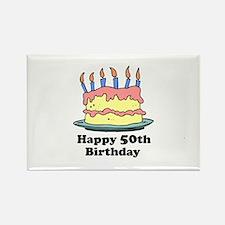 Happy 50th Birthday Rectangle Magnet