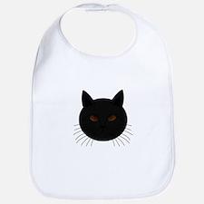 Black Cat Face Bib