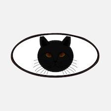 Black Cat Face Patch