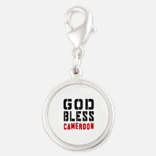 God Bless Cameroon Silver Round Charm