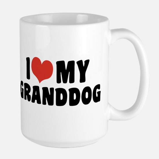 I Love My Granddog Large Mug