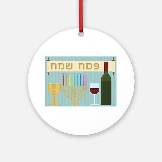 passover Round Ornament