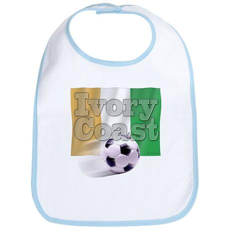 Soccer Flag Ivory Coast Bib