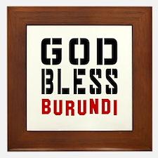 God Bless Burundi Framed Tile