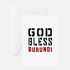 God Bless Burundi Greeting Card