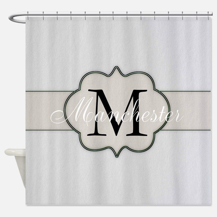 monogram shower curtains monogram fabric shower curtain liner