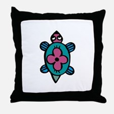 Turtle flower Throw Pillow