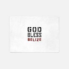 God Bless Belize 5'x7'Area Rug