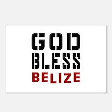 God Bless Belize Postcards (Package of 8)
