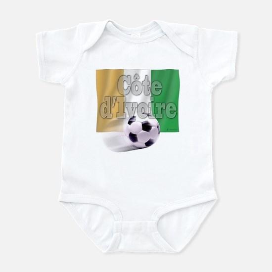 Soccer Flag Cote d'Ivoire Infant Bodysuit