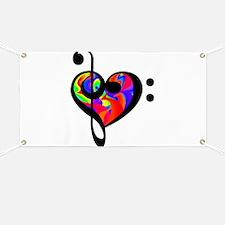 Rainbow clef Banner