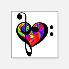 Rainbow clef Sticker